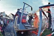 Auch die Eröffnung des Gotthard-Basistunnels wurde aufwendig und fasnachtsgerecht inszeniert. (Bild: Markus von Rotz (Stans, 23. Februar 2017))