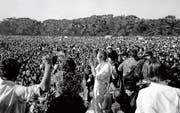 Brennpunkt einer Bewegung: Zusammenkunft im Januar 1967 im Golden Gate Park in San Francisco. (Bild: Keystone (Golden Gate Park 1967))