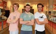 Nirando Bacchetta, Julian Schumacher und Kai Schöpfer (von links) haben sich selbstständig gemacht. (Bild: Andreas Kronenberger)