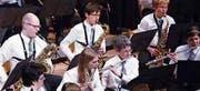 Die Musikgesellschaft Boswil bei ihrem letzten Konzert.