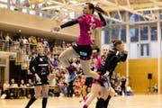 Mit neun Treffern die Beste im Team von Spono Eagles: Ivana Ljubas. (Bild: Philipp Schmidli (Nottwil, 17. März 2018))