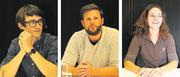 Jungunternehmer an der Podiumsdiskussion an der Kantonsschule (von links): Dominik Gasser, Markus Hurschler und Sarah Bürgi. (Bild: Patricia Helfenstein-Burch (Sarnen, 9. November 2017))