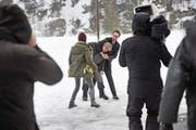 Szenen wie diese versprechen Spannung in der sechsteiligen TV-Serie «Wilder». (Bild: Urs Hanhart (Urnerboden, 21. Februar 2017))