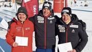 Die drei Zentralschweizer Avelino Näpflin, Cyril Fähndrich und Janik Riebli (von links) sind sich dicht auf den Fersen. (Bild: PD)
