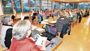 62 Kirchbürger kamen an die Kirchbürgerversammlung. Zu Rechnung und Budget sagten sie einstimmig Ja. (Bild: Max Tinner)