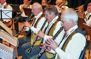 Zur Unterhaltung spielen am Veteranentag unter anderen die Rheintaler Musikanten auf. (Bild: Max Pflüger)