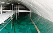 Die unterirdischen Becken fassen 1,8 Millionen Liter Trinkwasser.