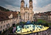 Die Festspielbühne mit der Kathedrale als imposante Kulisse. (Bild: Benjamin Manser)