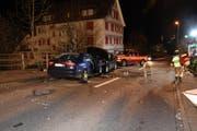 Die Appenzellerstrasse musste für mehrere Stunden gesperrt werden. (Bild: Kapo SG)