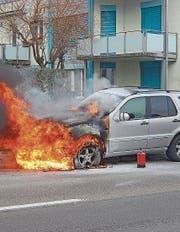 Am Auto ist ein Totalschaden entstanden. (Bild: Kapo TG)