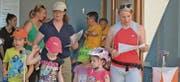 Am Montlinger Orientierungslauf haben sich sehr viele Familien beteiligt. Zum Teil nahmen sie den Parcours mit Kinderwagen in Angriff. (Bilder: Kurt Latzer)