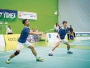 Im Playoff-Halbfinal wartet eine hohe Hürde: Agung Ruhanda (links) und Dominik Bütikofer. (Bild: Ralph Ribi)