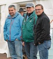 Schnee in Sicht: Tom Ledergerber, Sämi Niederer und OK-Präsident Silvan Breitenmoser (von links).