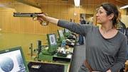 Die erfolgreiche Wiler Sportschützin Petra Hälg. (Bild: Peter Jenni)