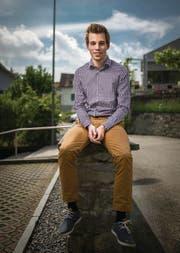 Simon Scherrer aus Mörschwil: 22 Jahre alt und schon Parteipräsident. (Bild: Benjamin Manser)
