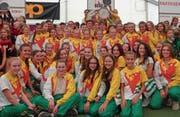 Die Jugendriege des STV Balgach hat zum fünften Mal in Folge den dreiteiligen Vereinswettkampf der Oberstufe am St. Galler Kantonalturnfest gewonnen. (Bild: pd)