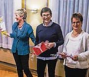 Dora Baumann ist seit 15 Jahren dabei, Silvia Sauder seit 20, Mary Rauber seit 40. (Bild: pd)