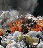 Abfall verbrennen: 300 Fr. (Bild: ky)