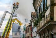 Der Grossbrand kurz vor Weihnachten 2015 zerstörte mehrere Häuser der Steckborner Altstadt. (Bild: Reto Martin)