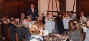 Regierungsrat Beni Würth spricht an der Neujahrsbegrüssung der CVP Toggenburg in Kirchberg zu den Gästen. (Bild: PD)