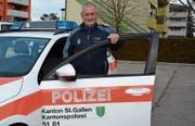 Mathias Kuhn wird am 31. Januar zum letzten Mal dienstlich ein Polizeiauto nutzen. (Bilder: Beat Lanzendorfer)