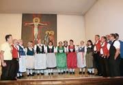 Musikalisch untermauert wurde die Versammlung des Bauernbundes vom Jodelchörli Ruggisberg. (Bild: Trudi Krieg)