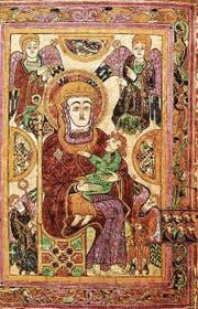 Eine Mutter Gottes mit Kind aus dem legendären «Book of Kells» aus Irland. (Bild: PD)