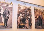 Auf Bildtafeln sind nebst Hochzeitspaaren in alten Hochzeitsgewändern weitere «Trouvailles» zu sehen.