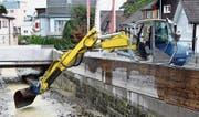 Das Hochwasser vom vorletzten Wochenende hat in vielen Wohnquartieren Schäden angerichtet. (Bild: Archiv/Remo Zollinger)