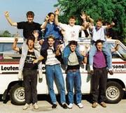 Die Mannschaft der ersten Stunde an der Schweizer Meisterschaft der A-Junioren 1989 in Biel.