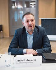 «Ein Gossauer für Gossau» – Daniel Lehmann tritt im zweiten Wahlgang wieder an. (Bild: Ralph Ribi)