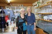 Hanny und Daniela Dietiker stehen heute letztmals hinter dem Tresen der Uzwiler Quartierbeiz. (Bilder: Philipp Stutz)
