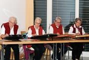 Die Zithergruppe Wattwil, (von links) Rösli Forrer, Fridi Forrer, Rösli Wälle und Anni Raschle, sorgte für den musikalischen Rahmen. (Bild: PD)