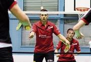 Eine mögliche Doppelpaarung wäre Spielertrainer Iztok Utrosa (vorne) und Kevin Joss. (Bild: Matthias Zindel)