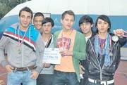 Sie sind Schweizer Meister: (von links) Driton Junuzi, Marko Jovicic, Memet Bakan, Augustin Jagustin, Ogün Hot und Ali Jusefi. (Bild: pd)