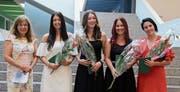 Klasse 4FGS (in alphabetischer Reihenfolge): Fitz Valentina, Heerbrugg (Gesundheit); Galeli Emel, Berneck (Gesundheit); Küng Daniela, Au (Soziales); Walser Céline, Berneck (Soziales). Prorektorin: Eva Rothenberger.