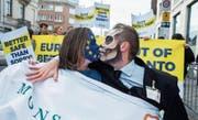 In Brüssel gab es gestern Proteste gegen die Nutzung von Glyphosat. (Bild: Stephanie Lecoq/EPA)