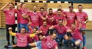 Grenzenloser Jubel beim erfolgreichen Team des FC Uzwil Futsal. Im dritten Jahr des Bestehens steigt die Mannschaft in die NLA auf. (Bild: PD)