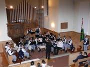 Die Musikgesellschaft Wintersberg-Bendel unter der Leitung von Severina Gross begeisterte mit ihrem Spiel. (Bild: Franz Steiner)