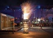 Feuerspektakel gehörte ebenfalls zur Zwischennutzung auf dem Güterbahnhof-Areal. (Bild: PD)