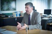 Der Ambitionierte: Boris Tschirky bleibt (vorerst) Gemeindepräsident von Gaiserwald. (Bild: Claudio Heller)