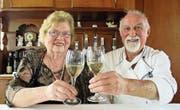 Wirten seit 45 Jahren: Luise und Erich Högger (Bild: Peter Eggenberger)