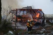 Personen wurden beim Brand keine verletzt. (Bild: Kapo AR)