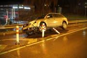 Blick auf die Unfallstelle. (Bild: Stapo SG)