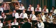 Die Bürgermusik Mörschwil gab ein gelungenes Jubiläumskonzert. (Bild: Andrina Zumbühl)