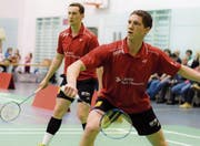 Artem Pochtarev (vorne) und Nicolas Blondel konnten am Wochenende alle ihre Spiele gewinnen. (Bild: Matthias Zindel)