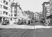 Das Zentrum des Lachen-Quartiers gegen Ende der 1950er-Jahre.