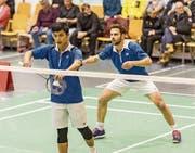 Spielertrainer Sandhi Kusumah (links) und Thomas Heiniger stehen am Wochenende für St. Gallen-Appenzell im Einsatz. (Bild: Hanspeter Schiess)