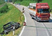 Der Unfallort zwischen Kradolf und Bischofszell. (Bild: Kapo TG)