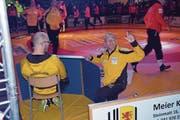 Hugo Dietsche (Bildmitte) ist mit voller Leidenschaft Trainer.